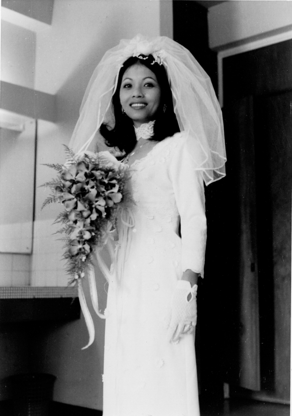 Mommy on her wedding day