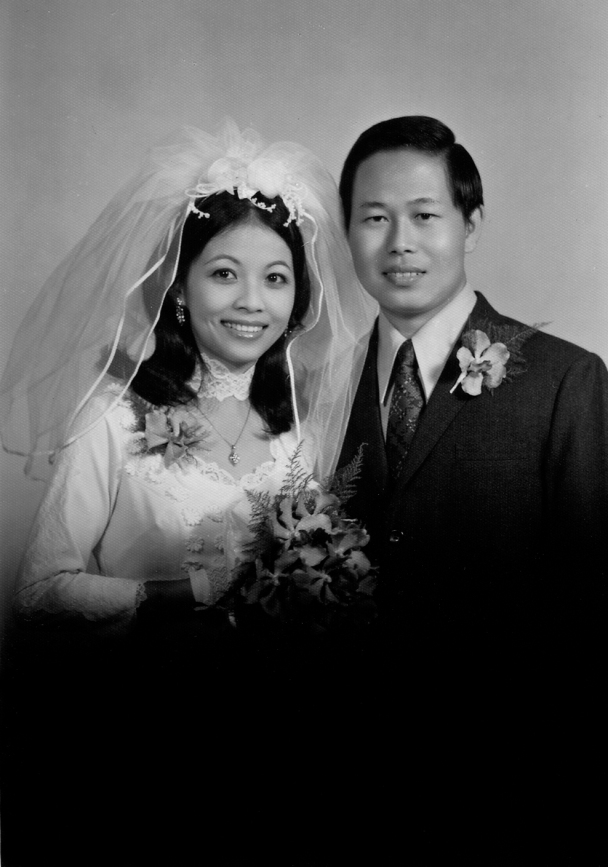 Mommy and Daddy on their wedding day