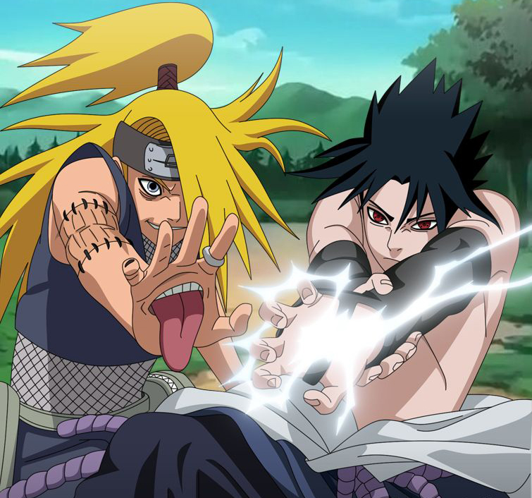 naruto vs sasuke shippuden final battle. Deidara vs. Sasuke