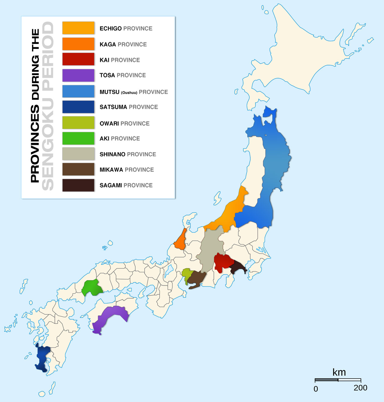 sengoku period japan I'm looking for some kind of authoritative list of the main clans operating during the sengoku period, if possible with each clan's kamon but most importantly which geographical areas they controll.