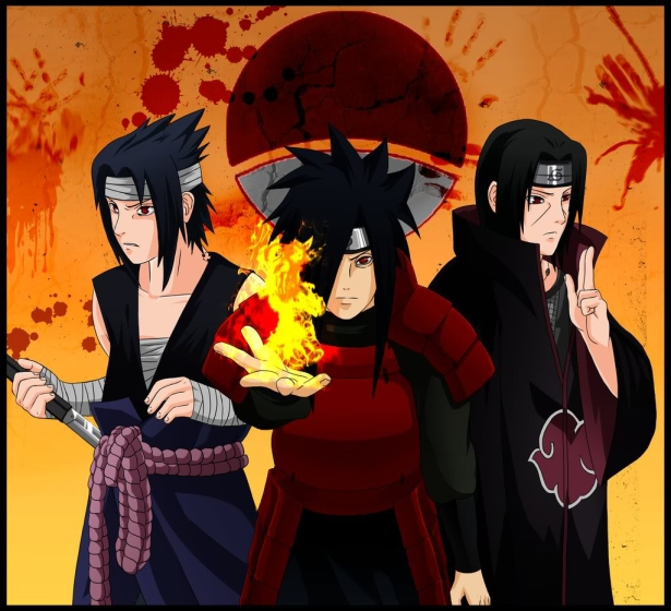 The Uchiha clan: Sasuke, Madara & Itachi