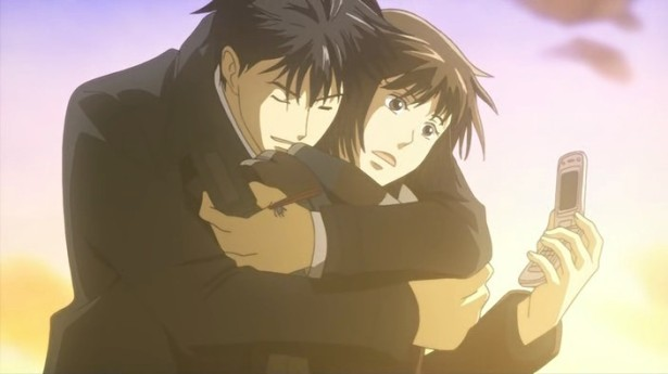 Chiaki finds Nodame in her hometown after she runs away from the piano competition