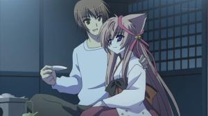 Yuuri & Mashiro exchange of wedding sake