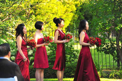 The bridesmaids courtesy of JLim