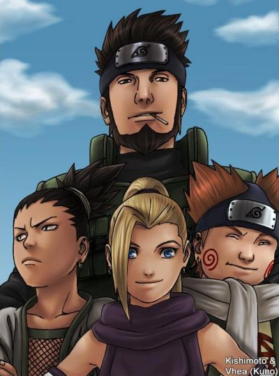 Asuma Sarutobi with Team 10