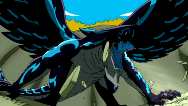 The appearance of the black dragon, Acnologia
