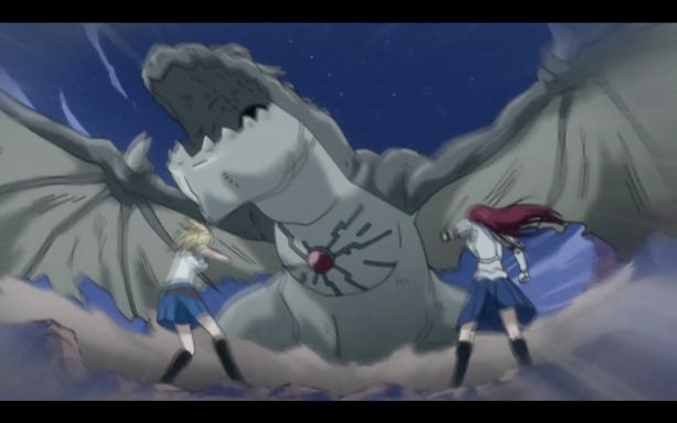 Erza & Lucy vs dragonoid