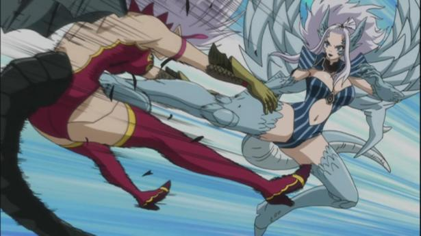 Mirajane taking on the fight herself