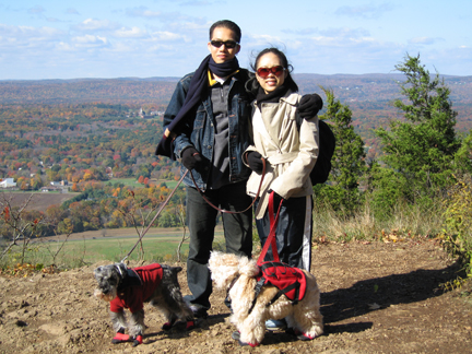 Haydn on his first hiking trip to CT