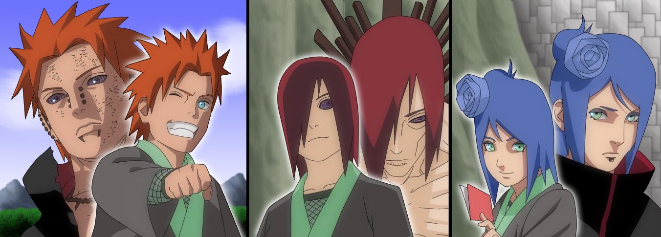 nagato and konan meet naruto vs pain