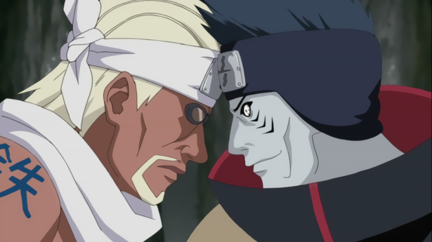 Killer Bee vs. Kisame & Samehada
