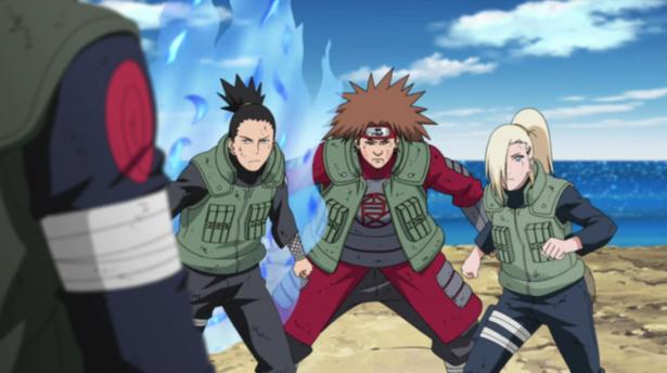 Team 10: Ino-Shika-Cho vs. Asuma Sensei
