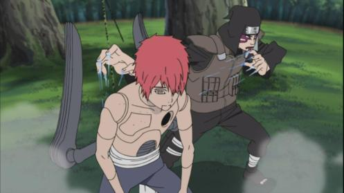 The Sasori puppet of Kankuro vs. the Sasori puppet of Kabuto