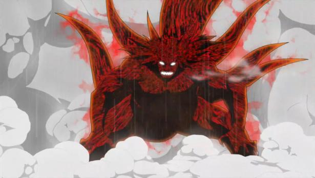 Kinkaku turning six tails on Darui