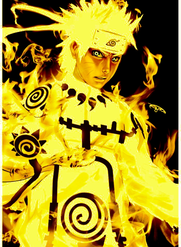 Naruto with Kurama's chakra