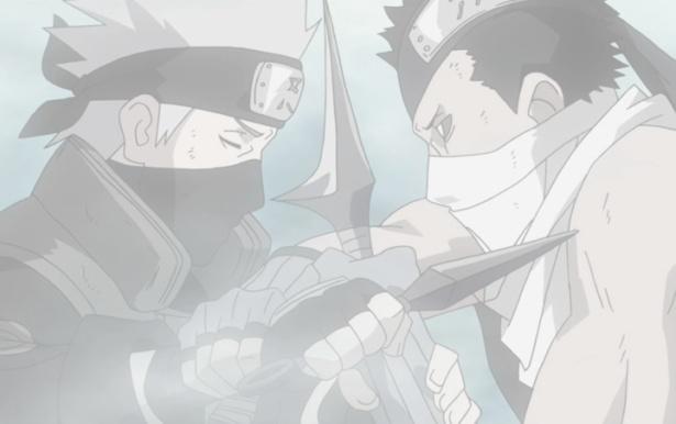 Kakashi vs Zabuza final battle