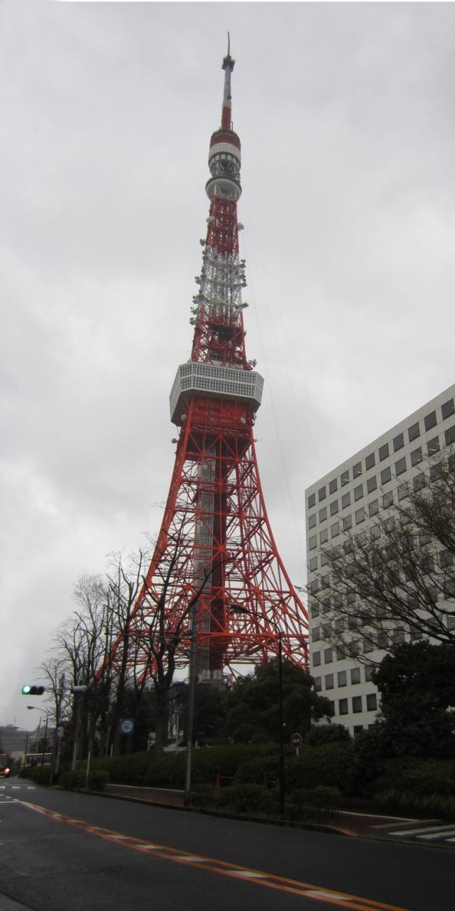 Tokyo Tower…in gloomy skies