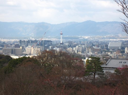 View of Kyoto Tower from Kiyomizu-dera