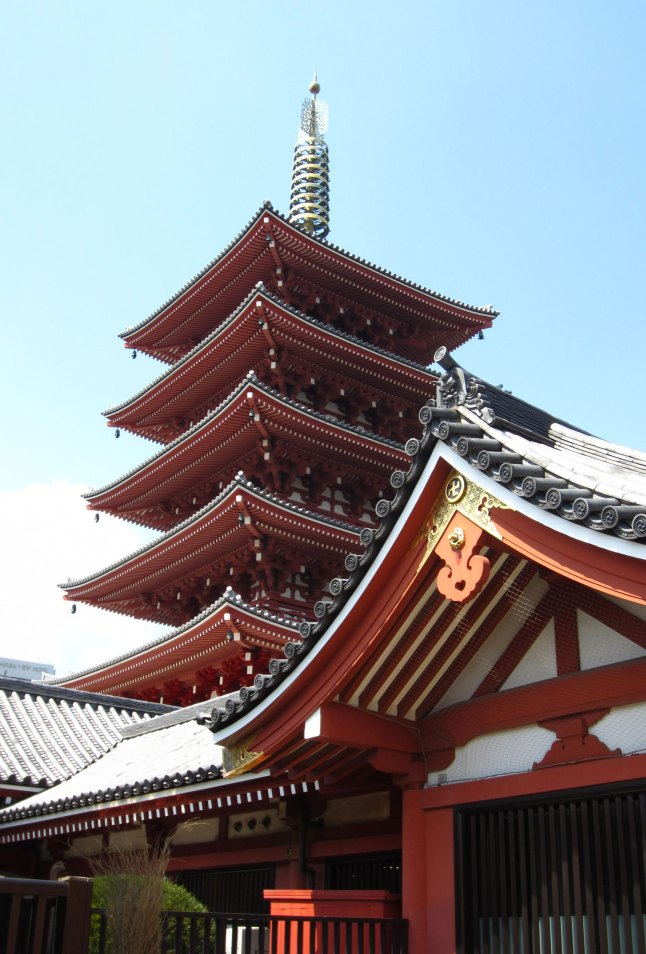 The five-story pagoda @ Sensou-ji