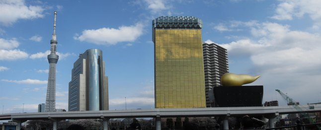 Our final scene: Sky Tree and Asahi Building